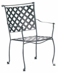 Maddox Stackable Dining Arm Chair with Seat Cushion