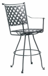 Maddox Swivel Bar Stool with Seat Cushion