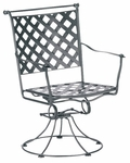 Maddox Swivel Rocker Dining Arm Chair with Seat Cushion
