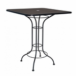 Micro Mesh Square Bar Height Umbrella Table - 36 inches