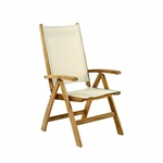 St Tropez Folding Adjustable Dining Lounge Arm Chair