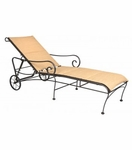 Terrace Padded Sling Adjustable Chaise Lounge