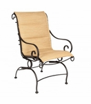 Terrace Padded Sling Coil Spring Dining Chair