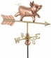 Whimsical Pig Garden Weathervane