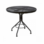 Wrought Iron Mesh Top Contract Round Bistro Contract Table - 30 inches