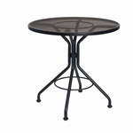 Wrought Iron Mesh Top Round Bistro Umbrella Contract Table - 36 inches