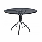 Wrought Iron Mesh Top Round Umbrella Contract Table - 42 inches