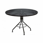 Wrought Iron Mesh Top Round Umbrella Contract Table - 48 inches