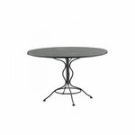 Wrought Iron Mesh Top Round Umbrella Table - 42 inches