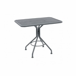 Wrought Iron Mesh Top Square Bistro Umbrella Contract Table - 36 inches