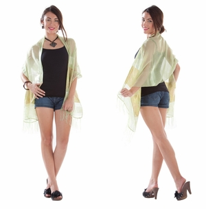 Elegant Silky Scarf in Light Green - Assorted