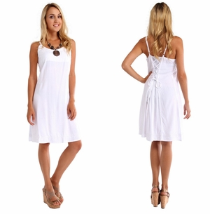 Lined Sundress in White