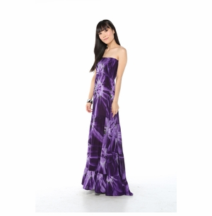 Womens Long Dress with Smoked Purple Design in Medium