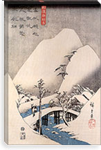 A Bridge in a Snowy Landscape By Utagawa Hiroshige l Canvas Print #13646