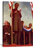 Abraham Lincoln Delivering the Gettysburg Address by Norman Rockwell Canvas Print #1549