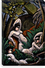 Adoration of the Moon By Max Weber Canvas Print #14083