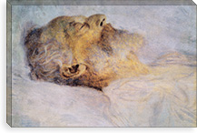 Alter Mann auf dem Totenbett (Old Man on the Deathbed) By Gustav Klimt Canvas Print #14004
