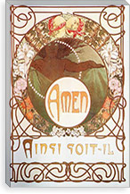 Amen (1899) By Alphonse Mucha Canvas Print #15153