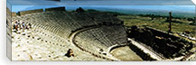 Ancient theatre in the ruins of Hierapolis, Pamukkale, Denizli Province, Turkey #PIM10909