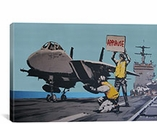 Applause Jet Aircraft Carrier By Banksy Canvas Print #2118