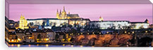 Arch bridge across a river, Charles Bridge, Hradcany Castle, St. Vitus Cathedral, Prague, Czech Republic #PIM6834