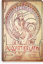Au Cartier Latin, 1900 By Alphonse Mucha Canvas Print #15280