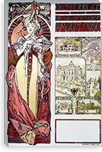 Austria at the World's Fair Paris (1900) By Alphonse Mucha Canvas Print #15174