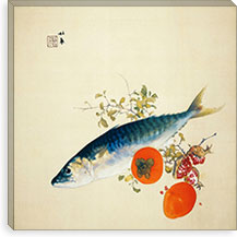 Autemn Fattens Fish and Ripens Wild Fruits By Takeuchi Seiho Canvas Print #13706