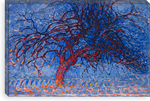 Avond (Evening) The Red Tree, 1910 By Piet Mondrian Canvas Print #13594