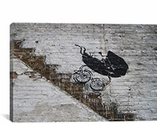 BaBy Carriage Rolling Down Stairs By Banksy Canvas Print #2081