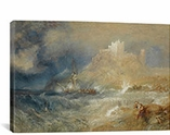 Bamborough Castle 1827 by William Turner Canvas Print #1205