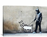 Banksy Choose Your Weapon Keith Haring Dog By Banksy Canvas Print #2024