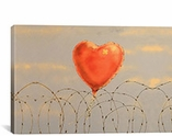 Barbed Wire Heart Ballon By Banksy Canvas Print #2169
