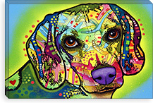 Beagle By Dean Russo Canvas Print #4234