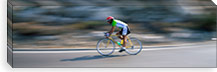 Bike racer participating in a bicycle race, Sitges, Barcelona, Catalonia, Spain #PIM2137