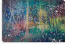 Birches Impression #2 Canvas Print #UVP22a