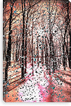 Birches Impression Canvas Print #UVP22