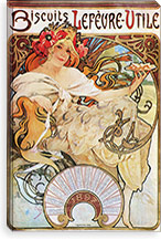 Biscuits Lefevre Utile (1896) By Alphonse Mucha Canvas Print #15183