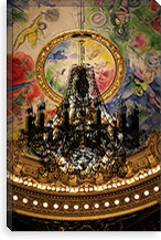 Black Chandelier Composition Canvas Print #UVP53