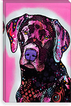 Black Lab By Dean Russo Canvas Print #4219