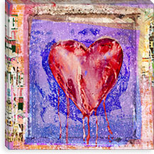 Bleeding Heart By Luz Graphics Canvas Print #LUZ65