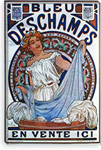 Bleu Deschamps, 1897 By Alphonse Mucha Canvas Print #15276