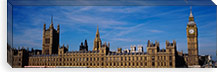 Blue sky over a building, Big Ben and the Houses Of Parliament, London, England #PIM3428