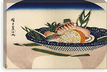 Bowl of Sushi By Utagawa Hiroshige l Canvas Print #13666