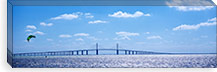 Bridge across a bay, Sunshine Skyway Bridge, Tampa Bay, Florida, USA #PIM6184