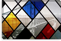 Bridge Cube Art Canvas Print #UVP35