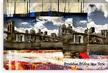 Brooklyn B New York By Luz Graphics Canvas Print #LUZ62