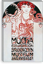 Brooklyn Exhibition (1921) By Alphonse Mucha Canvas Print #15177