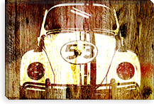 Buggy 53 Woodgrain Canvas Print #UVP62