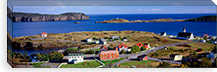 Buildings at the coast, Trinity Bay, Trinity, Newfoundland Island, Newfoundland and Labrador Province, Canada #PIM7202